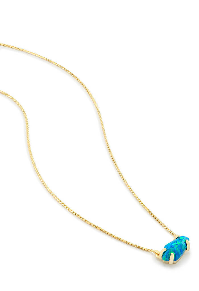 Kendra Scott Jayde Pendant Necklace in Marine Kyocera Opal