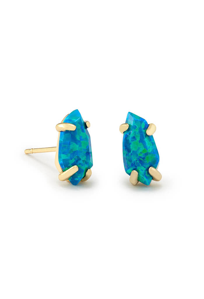 Kendra Scott Jillian Stud Earrings in Marine Kyocera Opal