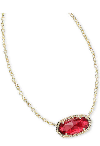 Elisa Pendant Necklace in Clear Berry