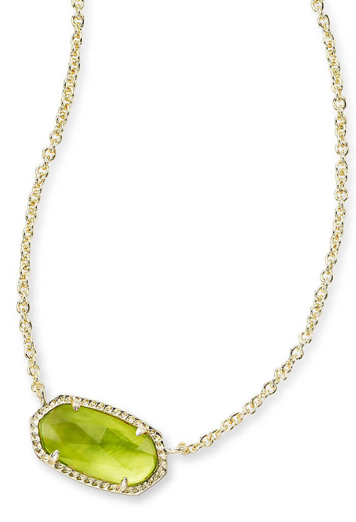 Kendra Scott Elisa Pendant Necklace in Peridot Illusion