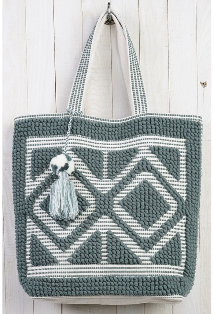 Double Diamond Picnic Tote-Slate