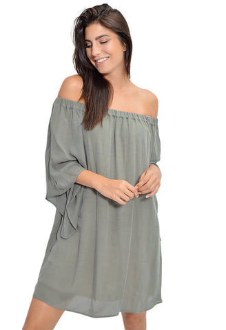 Washed Olive Dress