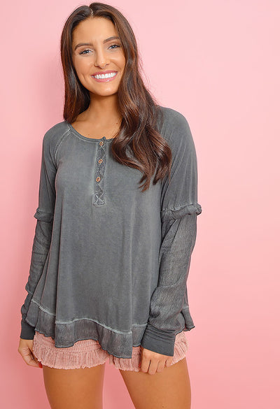 Cloud Nine Long Sleeve - Charcoal