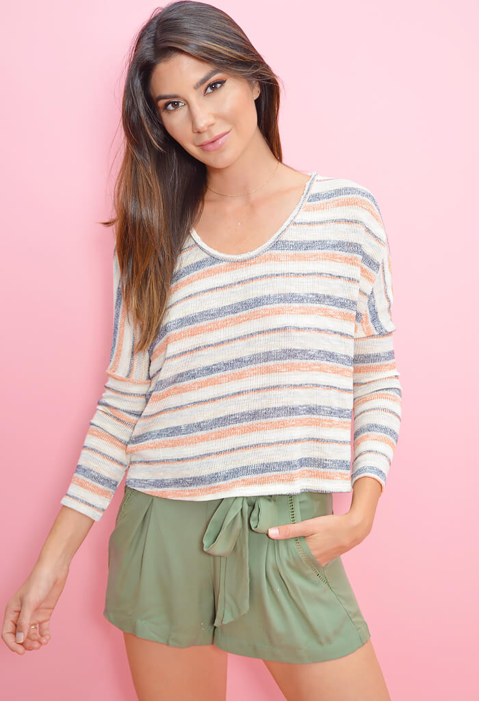 Amara Stripe Knit Top