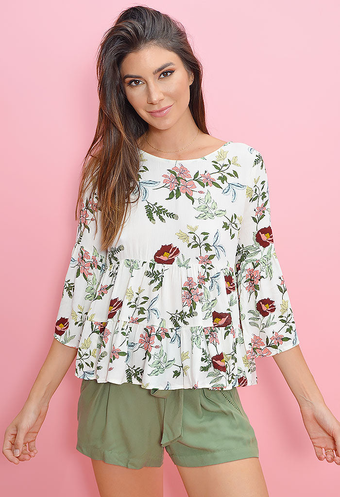 Flowers in Her Hair Blouse