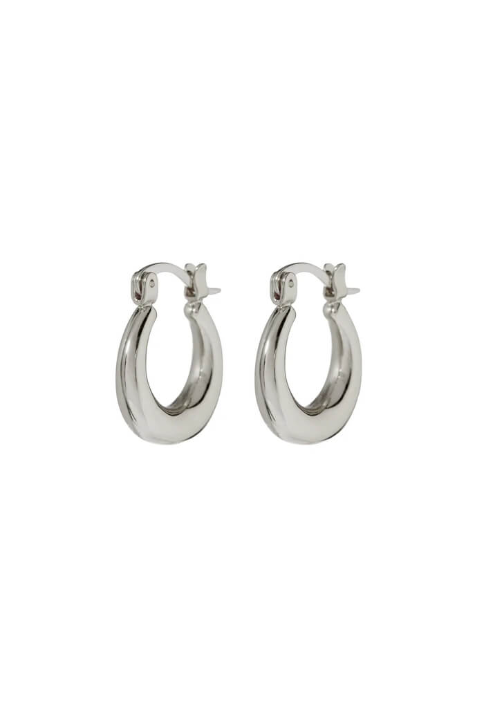Mini Martina Hoops-Silver