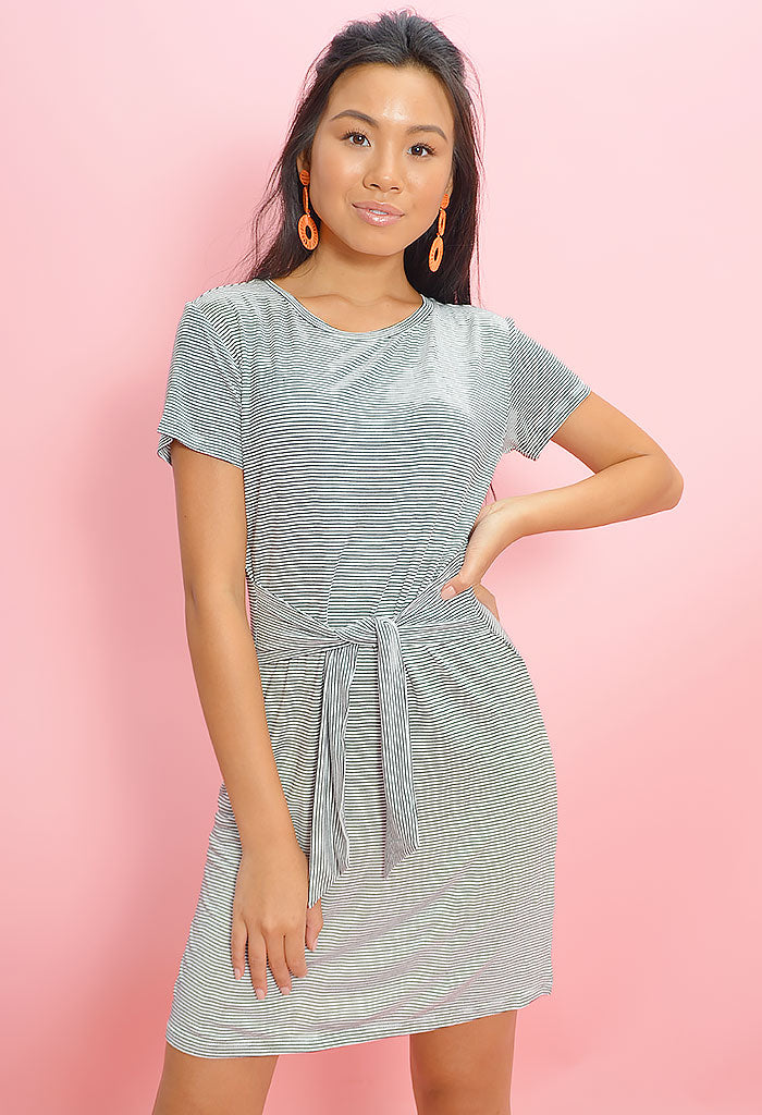Waisting Time Tie Front Dress