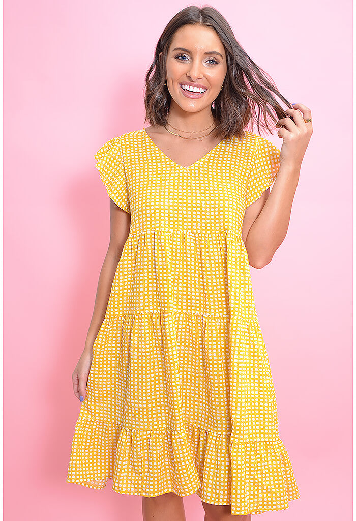 Picnic Party Dress-Yellow