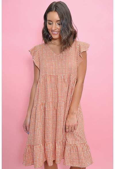 Picnic Party Dress-Coral