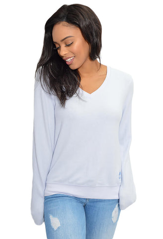 Baggy Beach Jumper - Blue Pearl