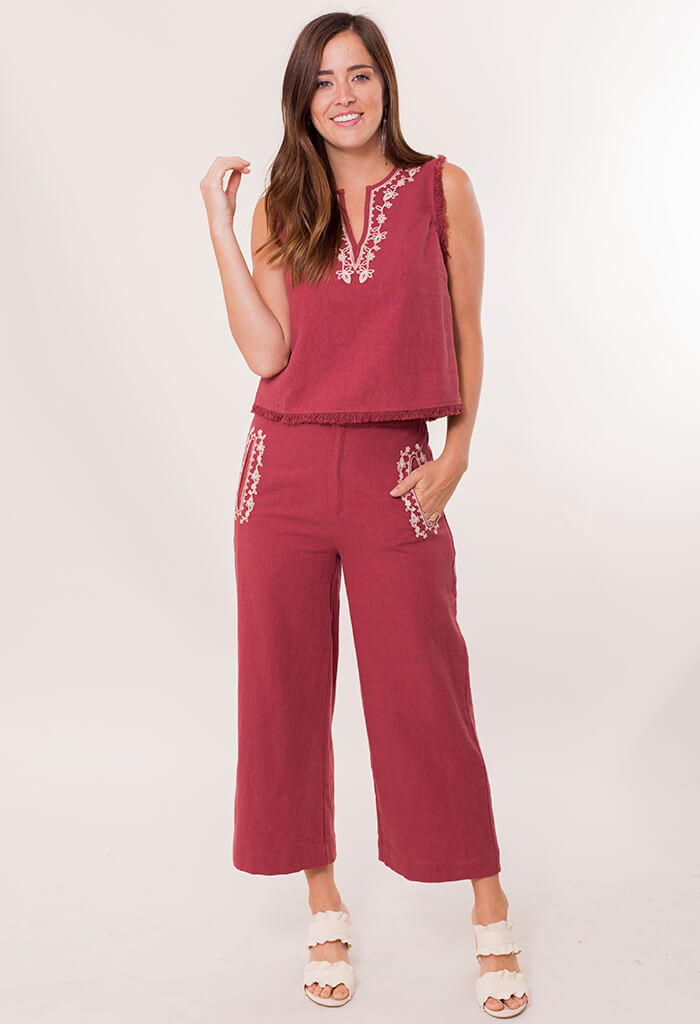 Holland Embroidered Pants