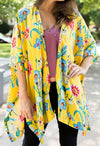 Mustard Mix Flower Kimono - KK Bloom Boutique