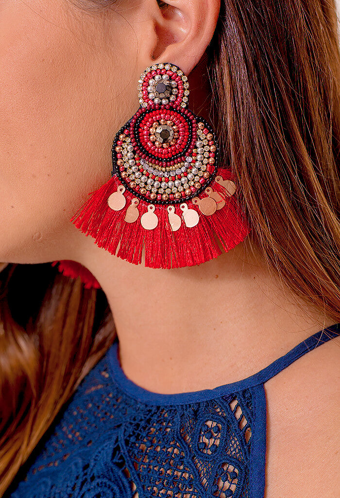 Crimson Crush Earring
