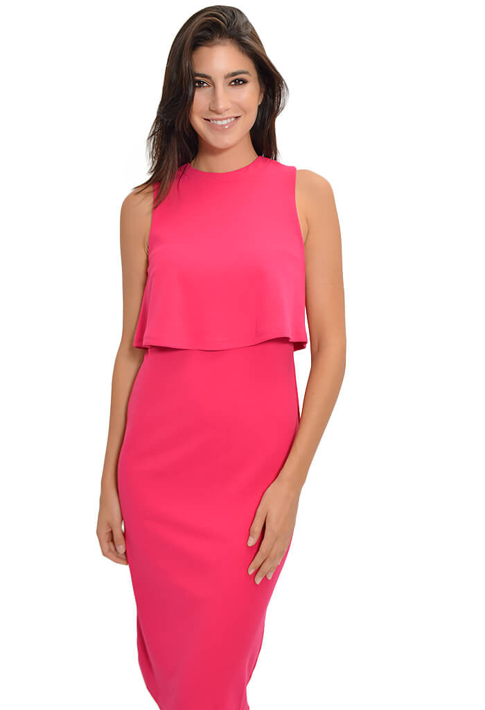 She and Sky Blushing Berry Dress-front