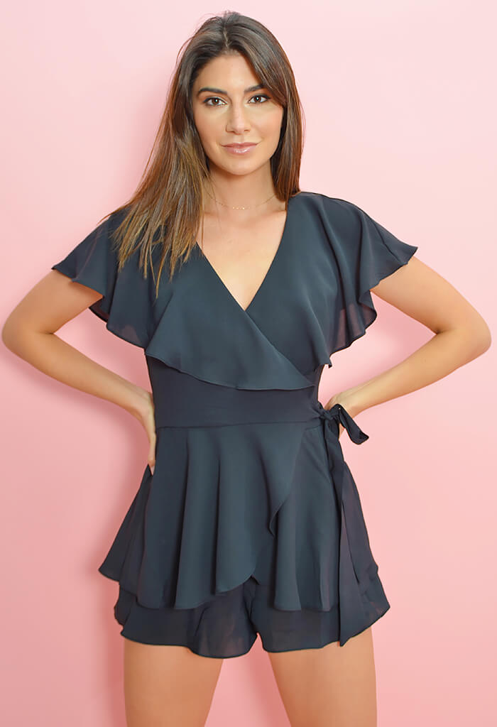 Lady In Black Playsuit