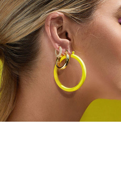 Rainbow Amalfi Hoops-Yellow