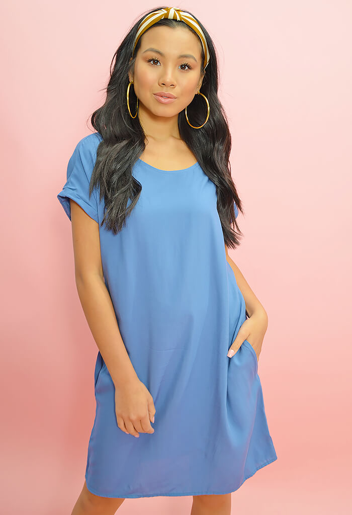 Essential Dress-Periwinkle