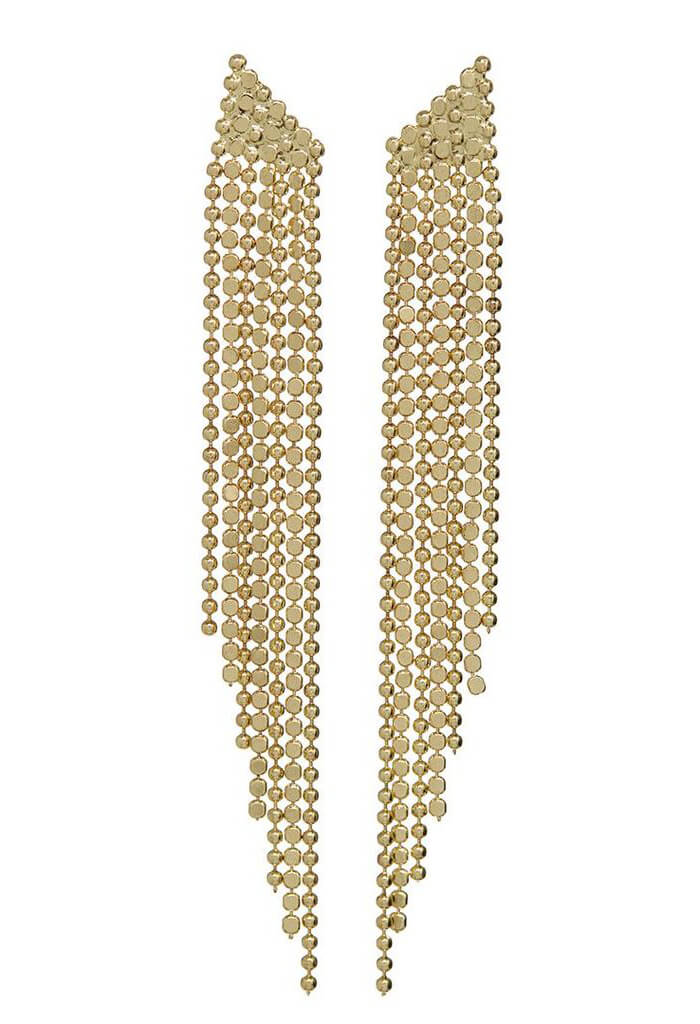 Cascading Chain Earrings-Gold