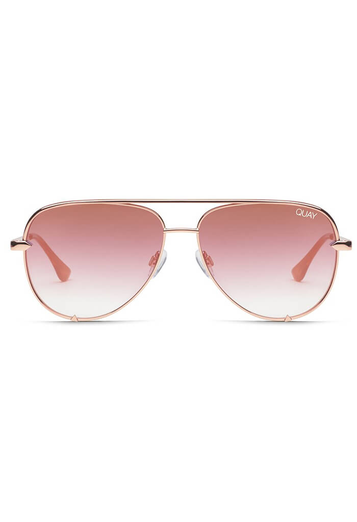 High Key Mini Sunglasses in Rose Gold