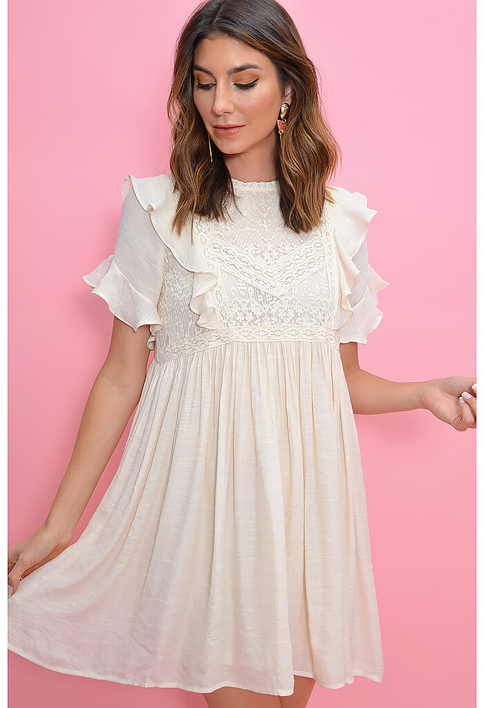 Wendy Dress-Cream