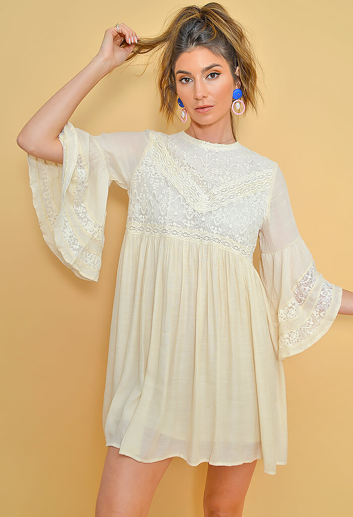 Day Dream Dress-Cream