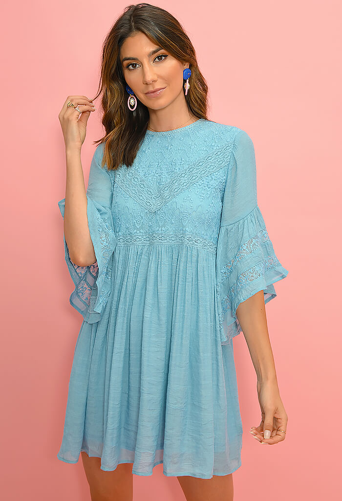 Day Dream Dress-Blue