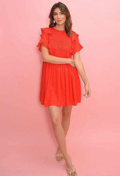 Wendy Dress-Chili Pepper