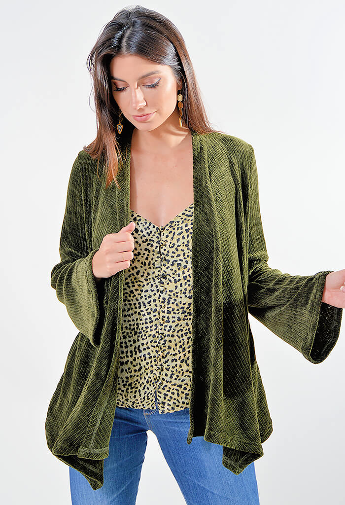 Chenille of Fortune Cardigan