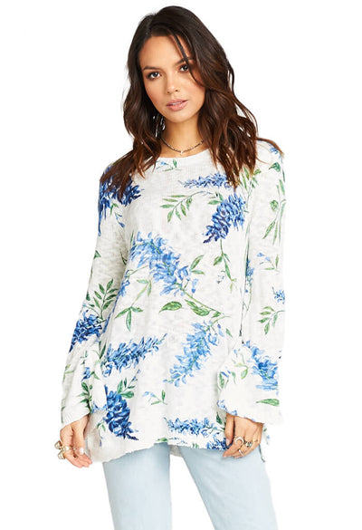 Show Me Your Mumu Festibell Sweater Wisteria Wonder Knit-front