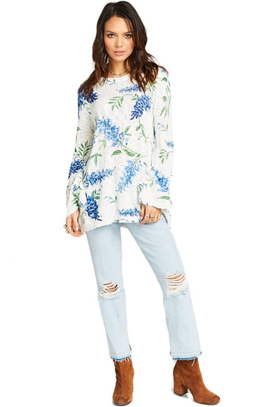 Show Me Your Mumu Festibell Sweater Wisteria Wonder Knit-full length
