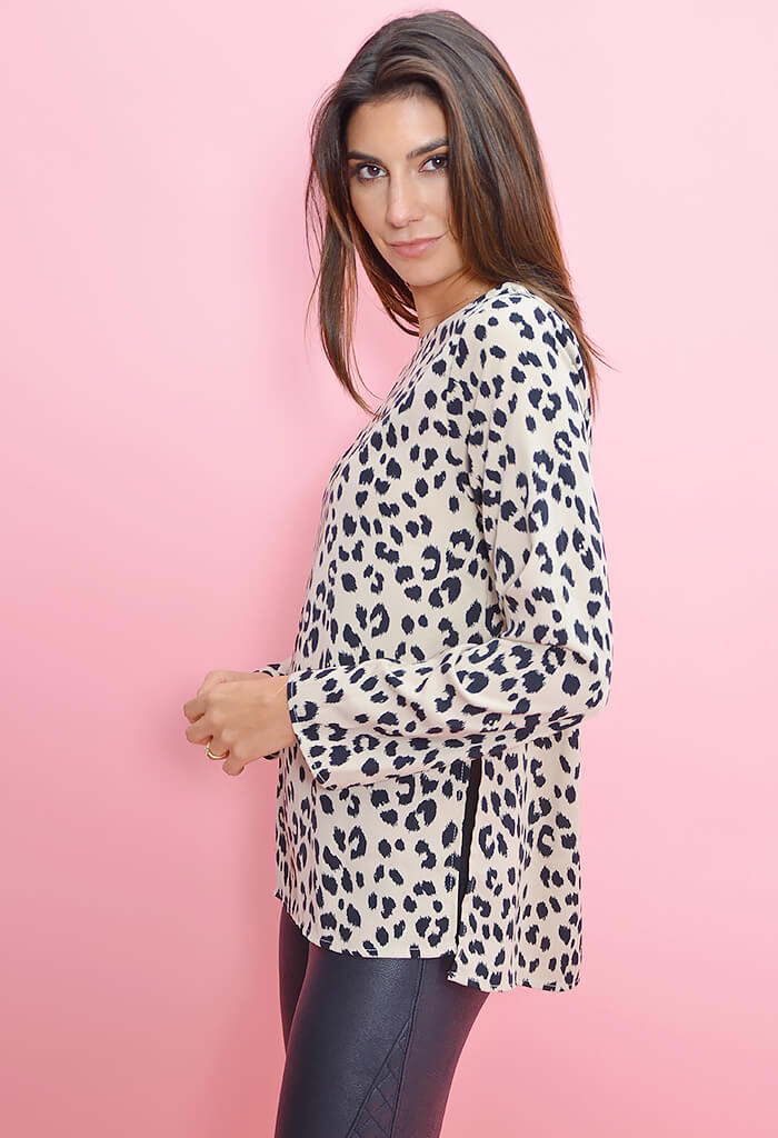 On the Loose Leopard Top