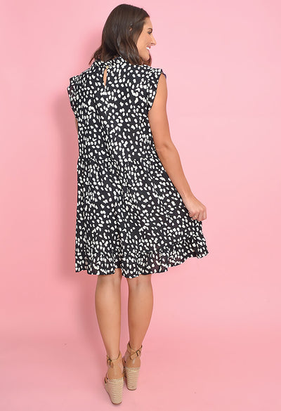 Spritzer Day Dress-Black