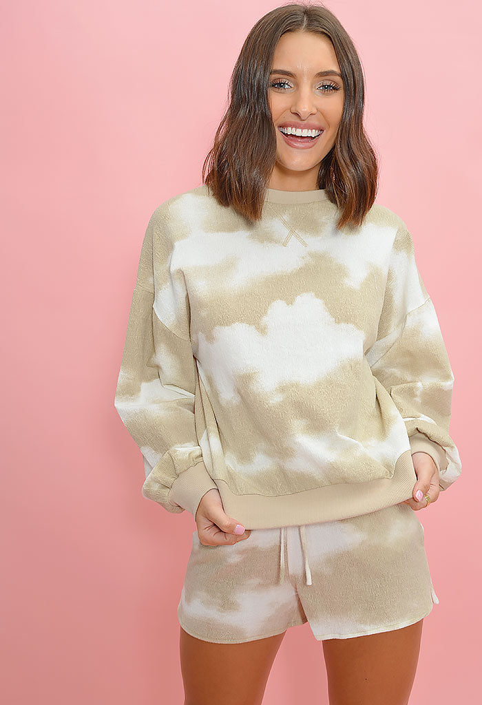 Cotton Candy Cloud Set-Tan