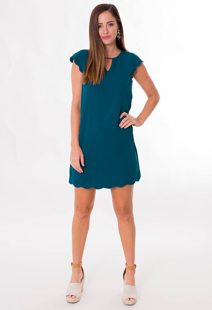 Sea Scalloped Dress