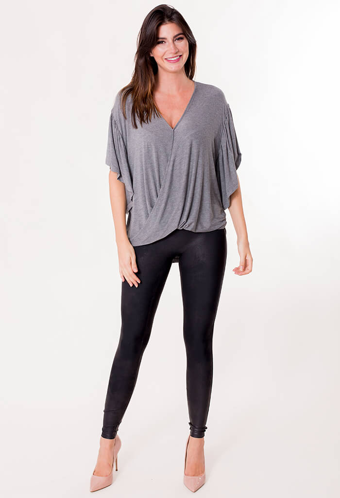 Waves Blouse - Grey