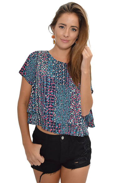 Buddy Love Joey Top in Floral Frenzy-front