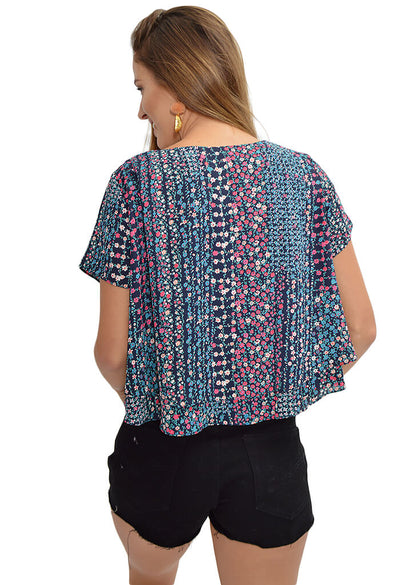Buddy Love Joey Top in Floral Frenzy-back