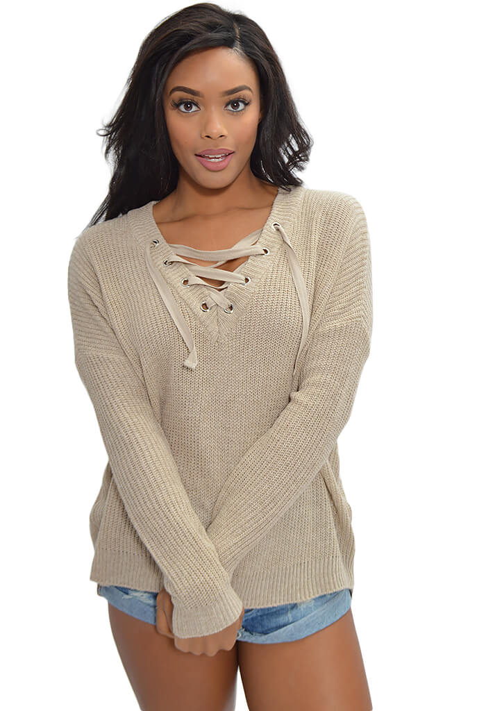Jack by BB Dakota Williard Sweater in Tan-front