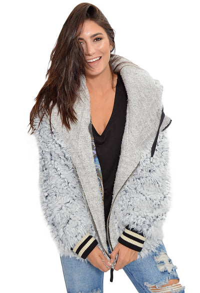 Free People Fluffy Dolman Jacket