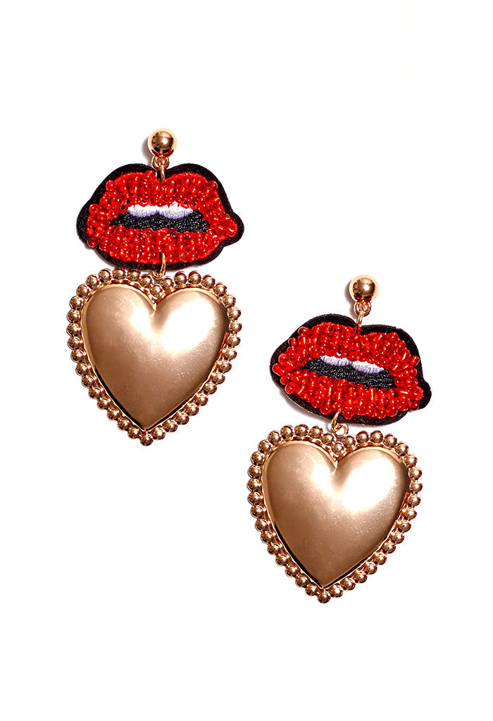 Kiss Me Statement Earrings