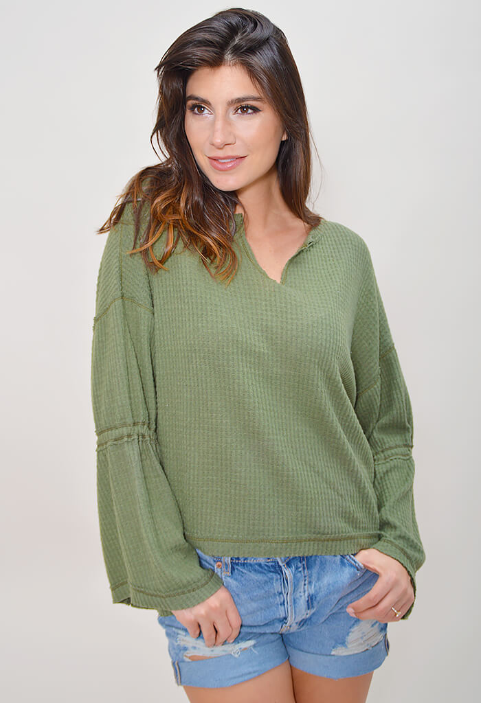 Olive Cuddle Top