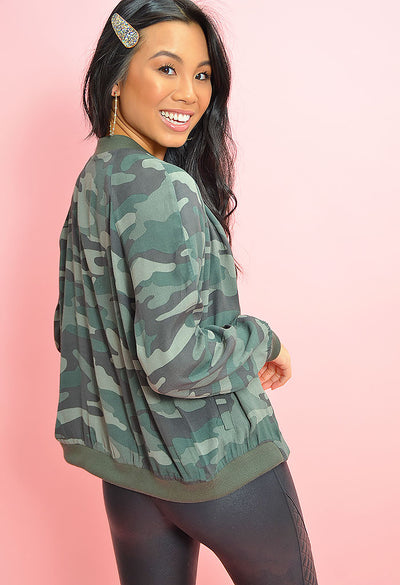 Can't See Me Jacket-Army Green