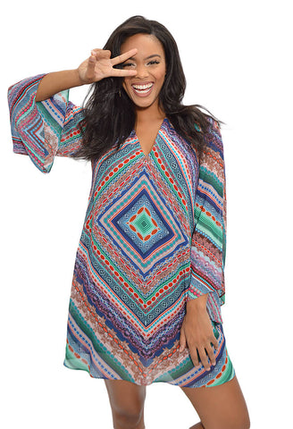 Gemma Dress - Magic Multi