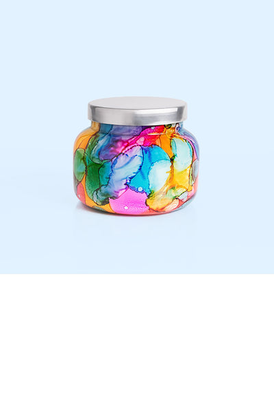 Volcano Rainbow Watercolor Jar