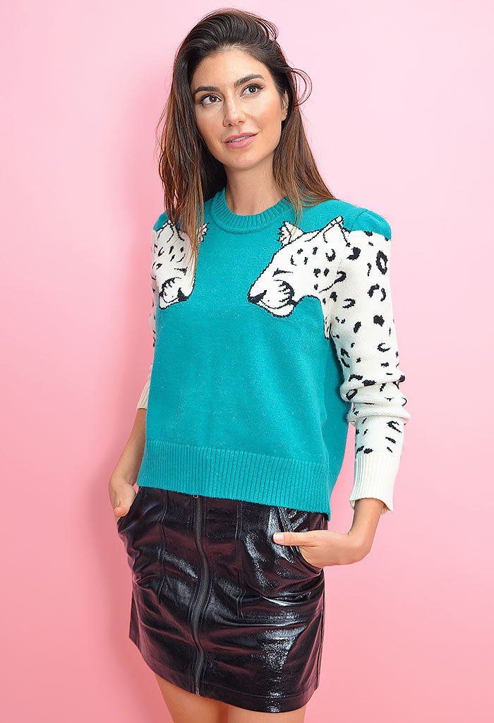 Snow Leopard Knit Jumper