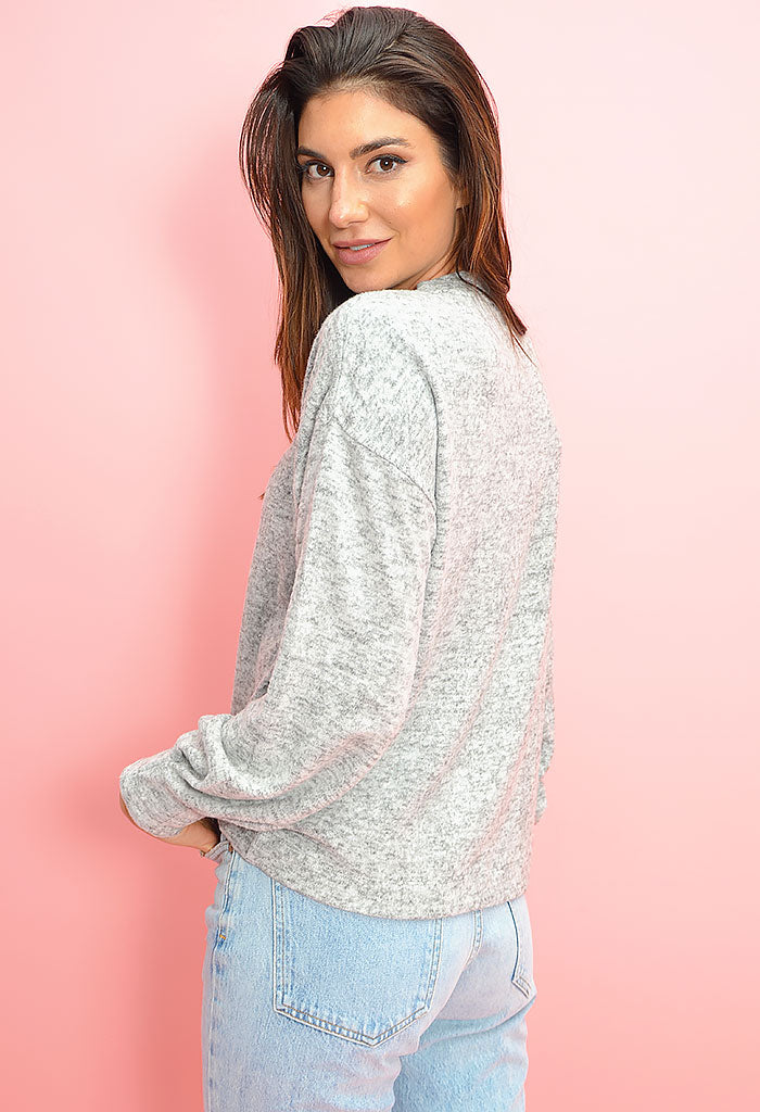 Brushed Drop Shoulder Sweater