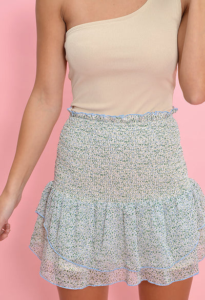 Delilah Smocked Skirt