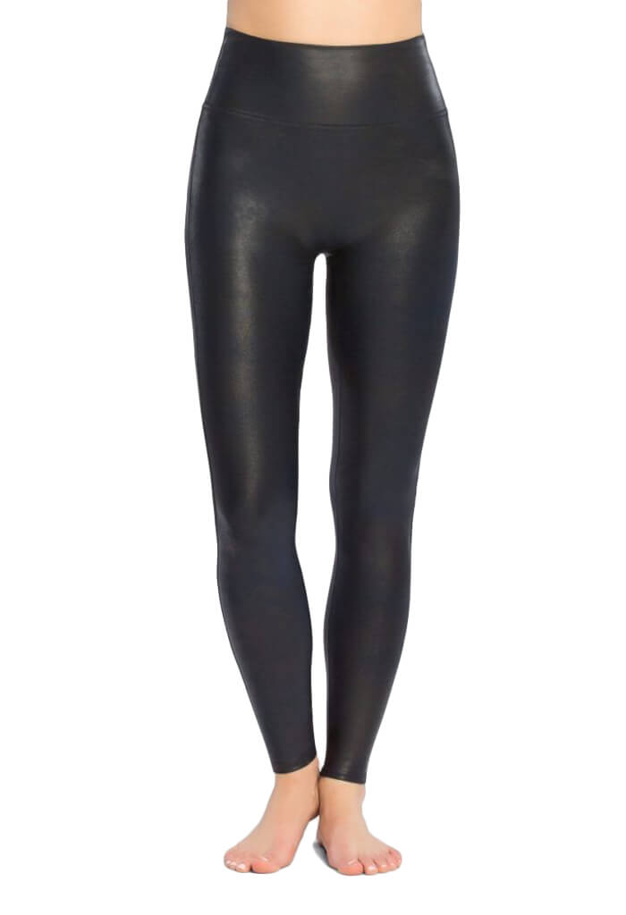 Spanx Navy Faux Leather Leggings