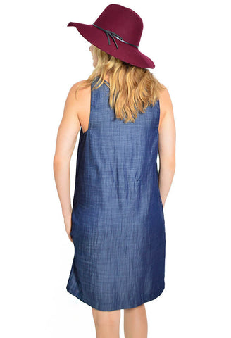 Blue dress hat 901