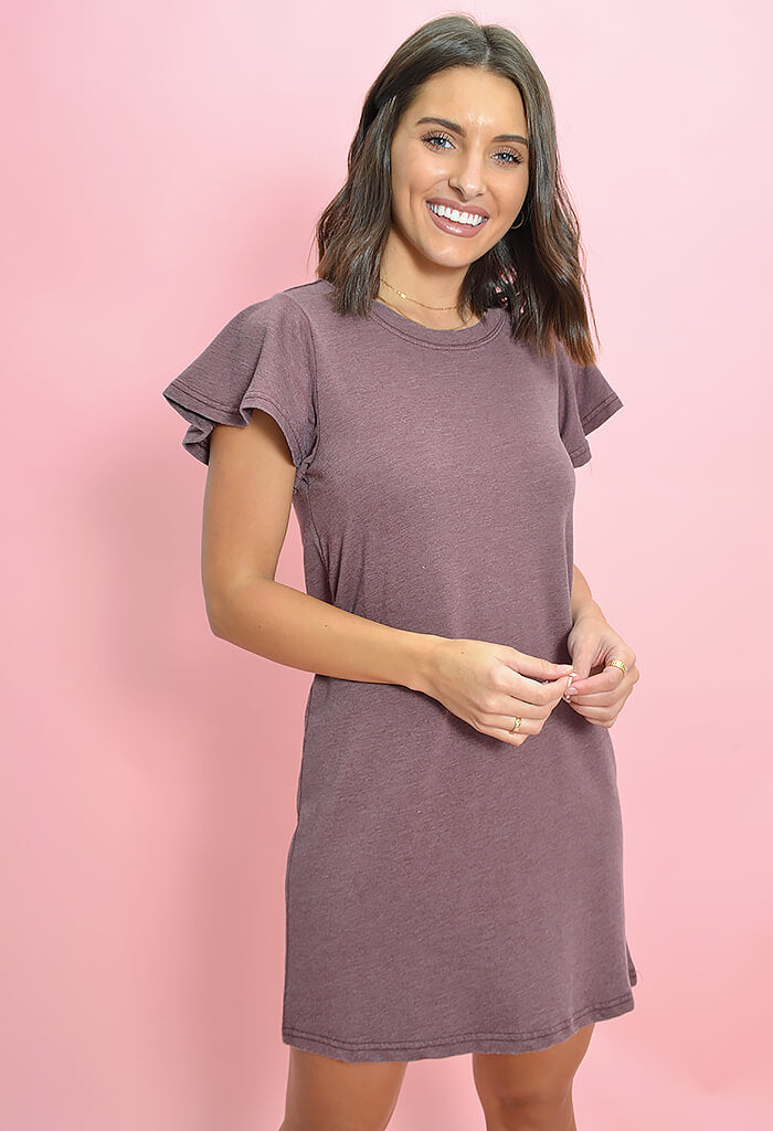 Z Supply Farren Tee Dress Merlot-front